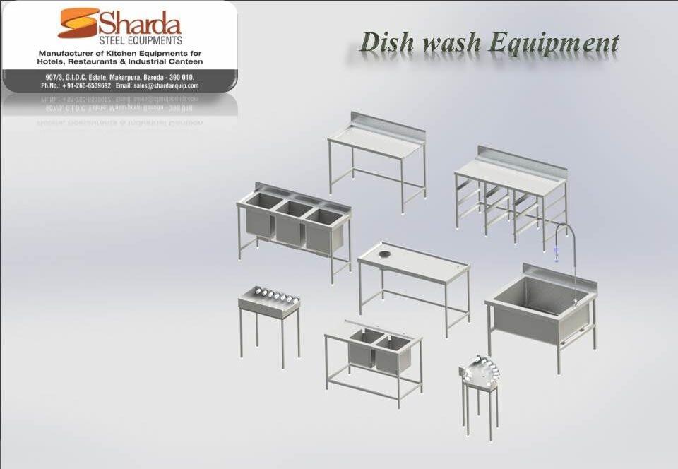 Dish Wash Area Equipment