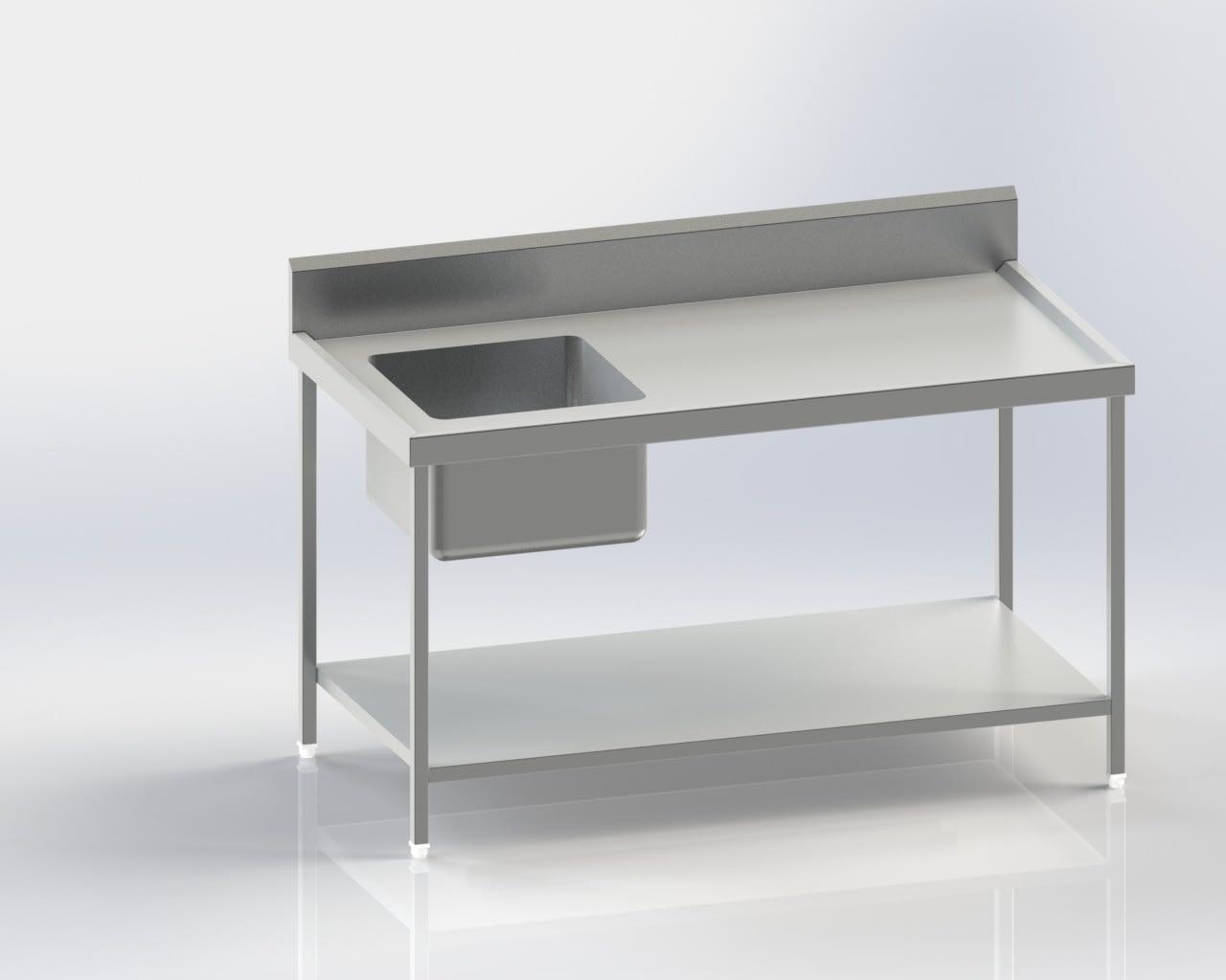 work Table/Backsplash/Sink(Left)