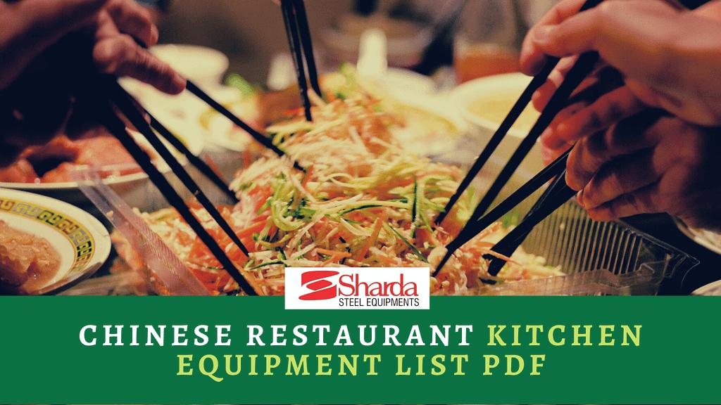 Chinese Restaurant Kitchen Equipment List PDF