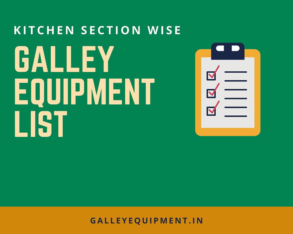 Galley Equipment List