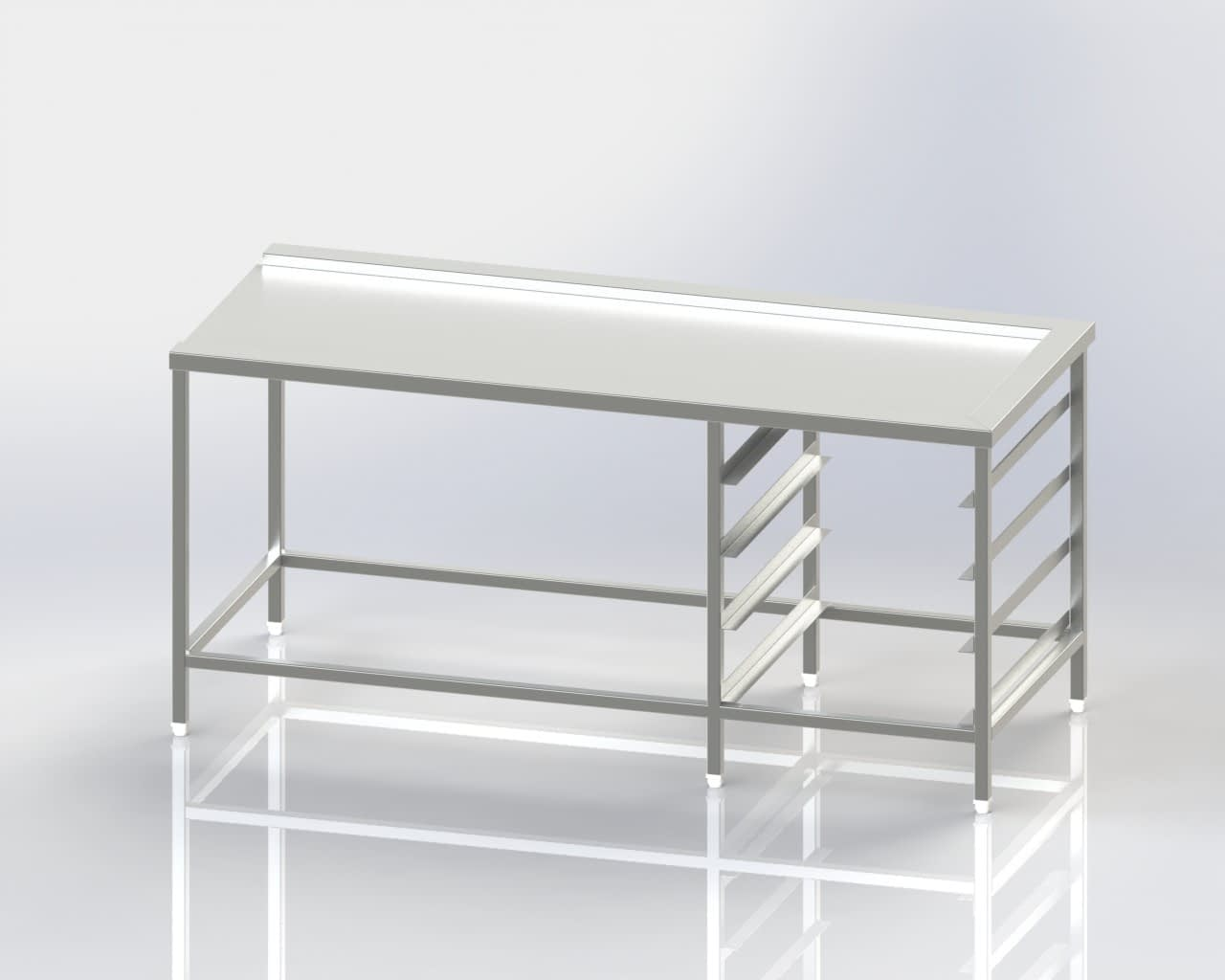 Dish Washer Outlet - Clean Dish Landing Table - Crate Storage