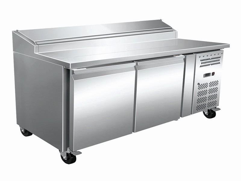 Pizza-makeline-with-two-door-under-counter-refrigerator