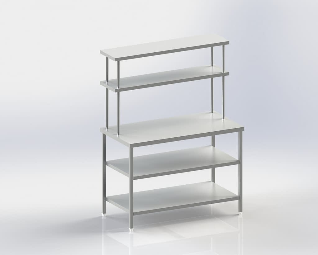 Work Table with Two lower and upper shelves
