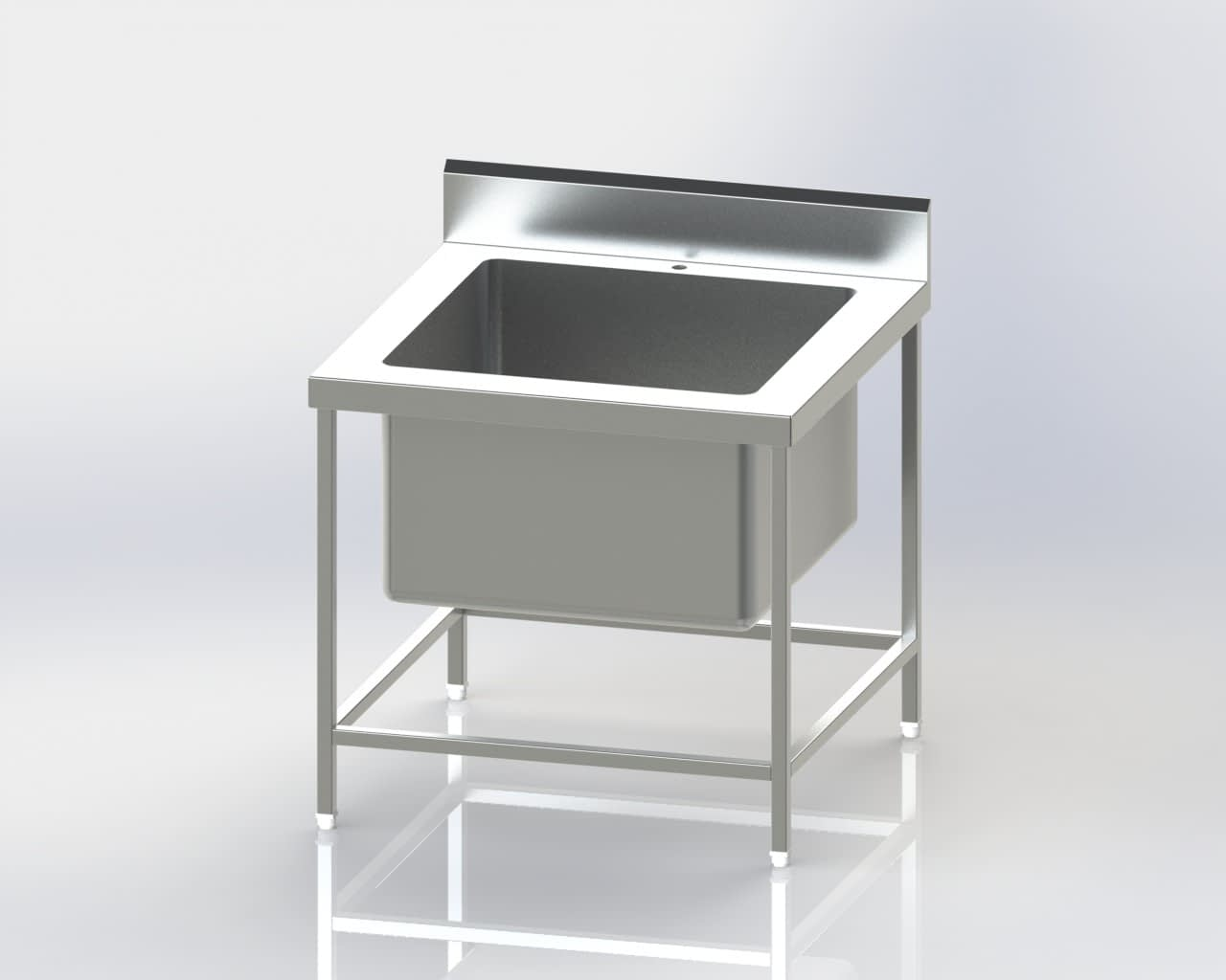 Single Sink Pot Wash Unit