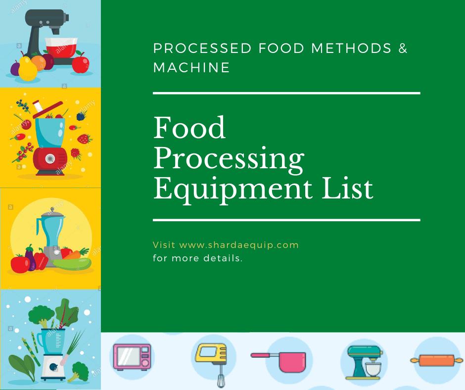 Food Processing Equipment List