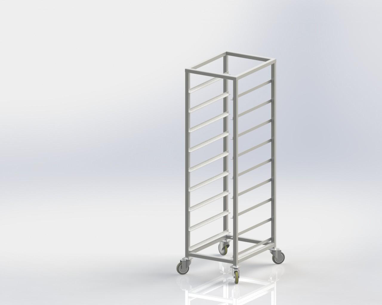 Vegetable Rack Trolley for commercial kitchen