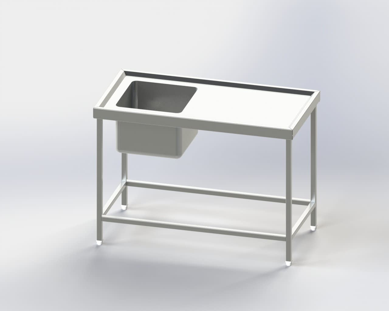 Single Sink Dish Wash Unit