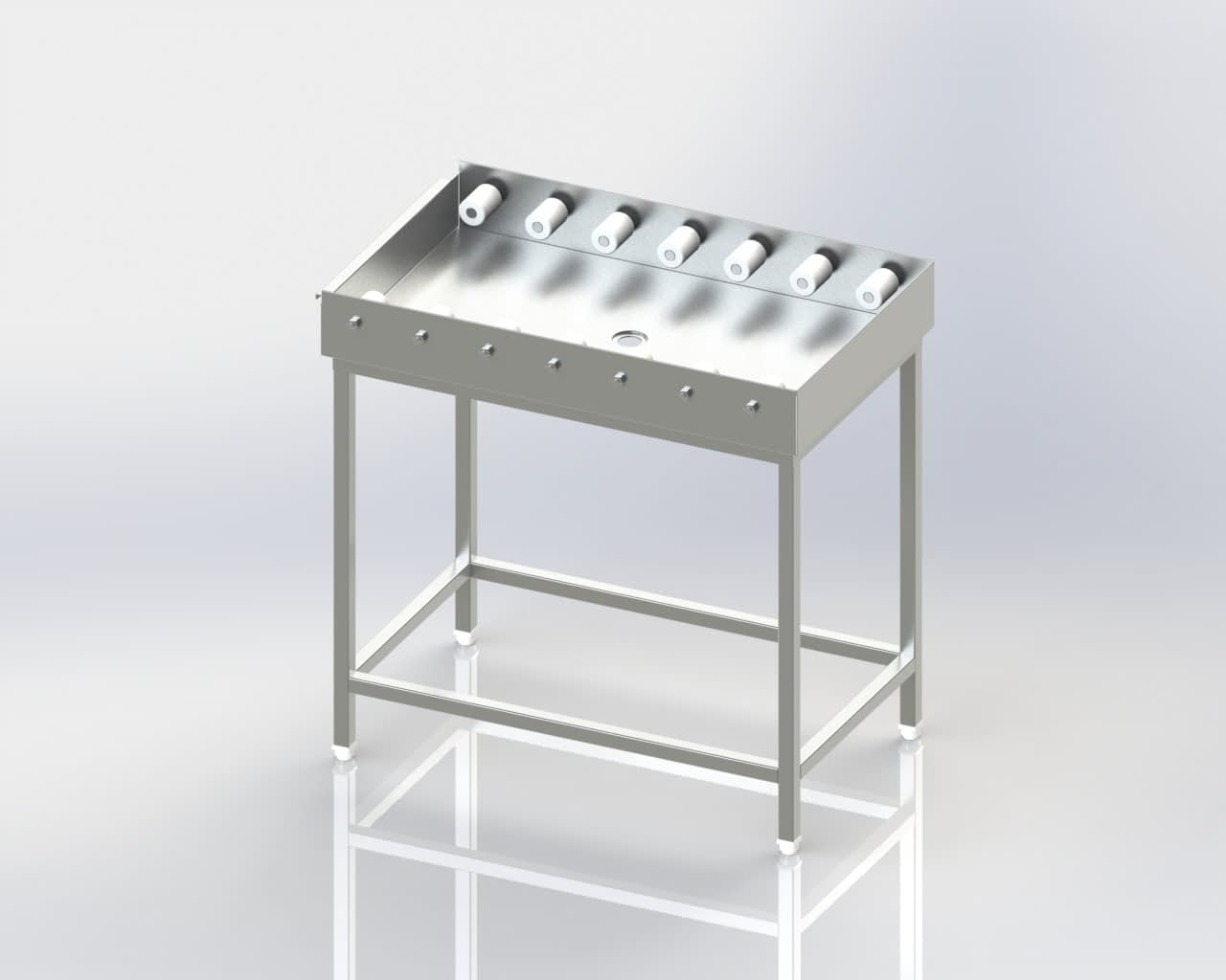 Dish Washer Outlet - Straight Roller Table
