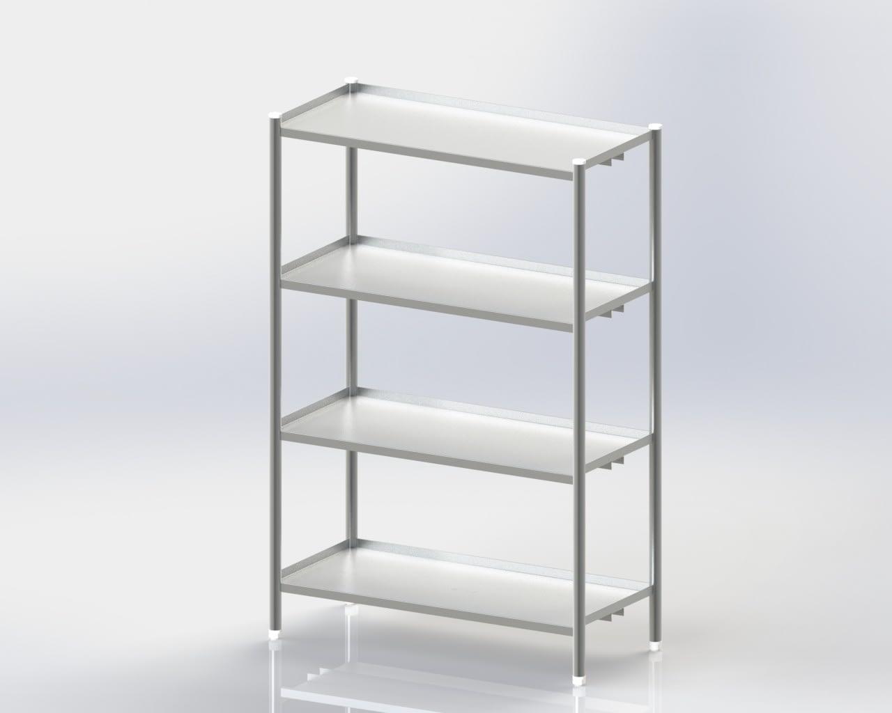 4 Storage Shelves / Standard / Mobile