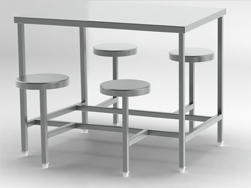 4-seater-fix-stool-canteen table