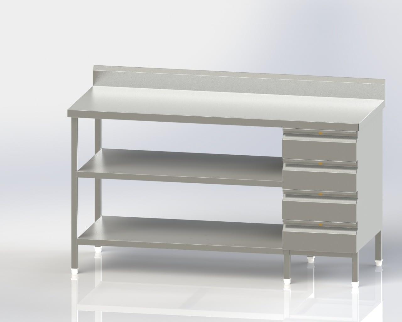 Work Table/4 Drawer/Lower and Intermeadiate Shelf