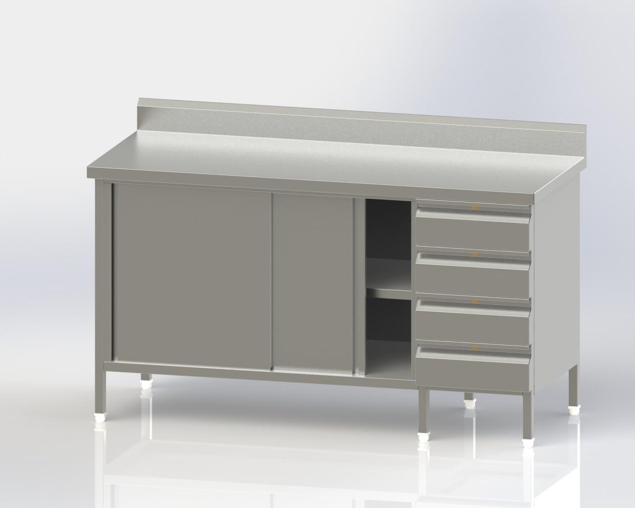 Work Table/Cup Board/Intermediate Shelf/$ Drawers