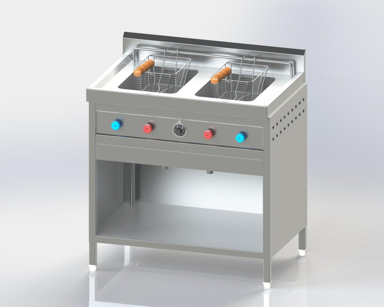 Double Chamber Deep Fat Fryer (Gas)