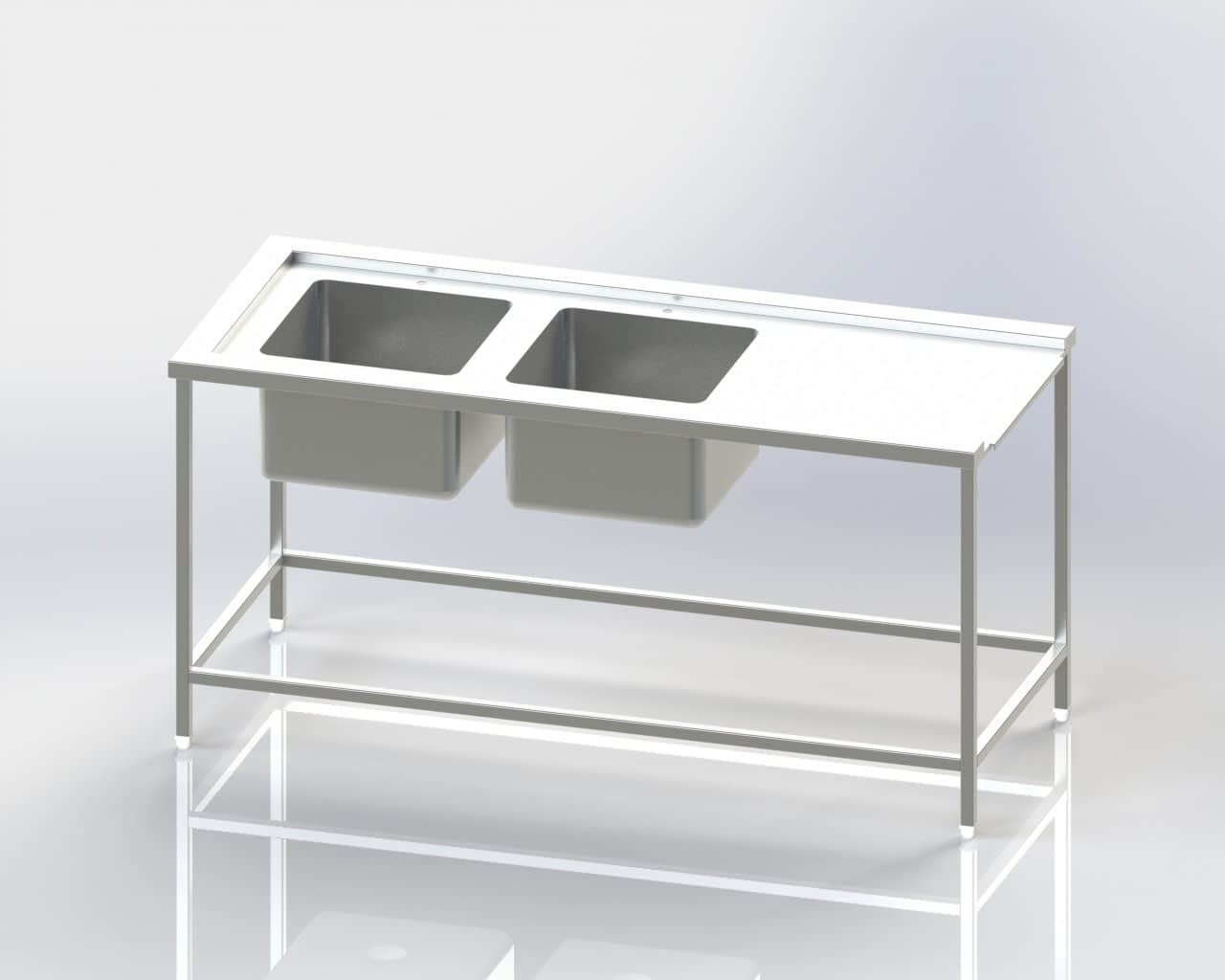 Two Sink - Dishwasher Inlet Table