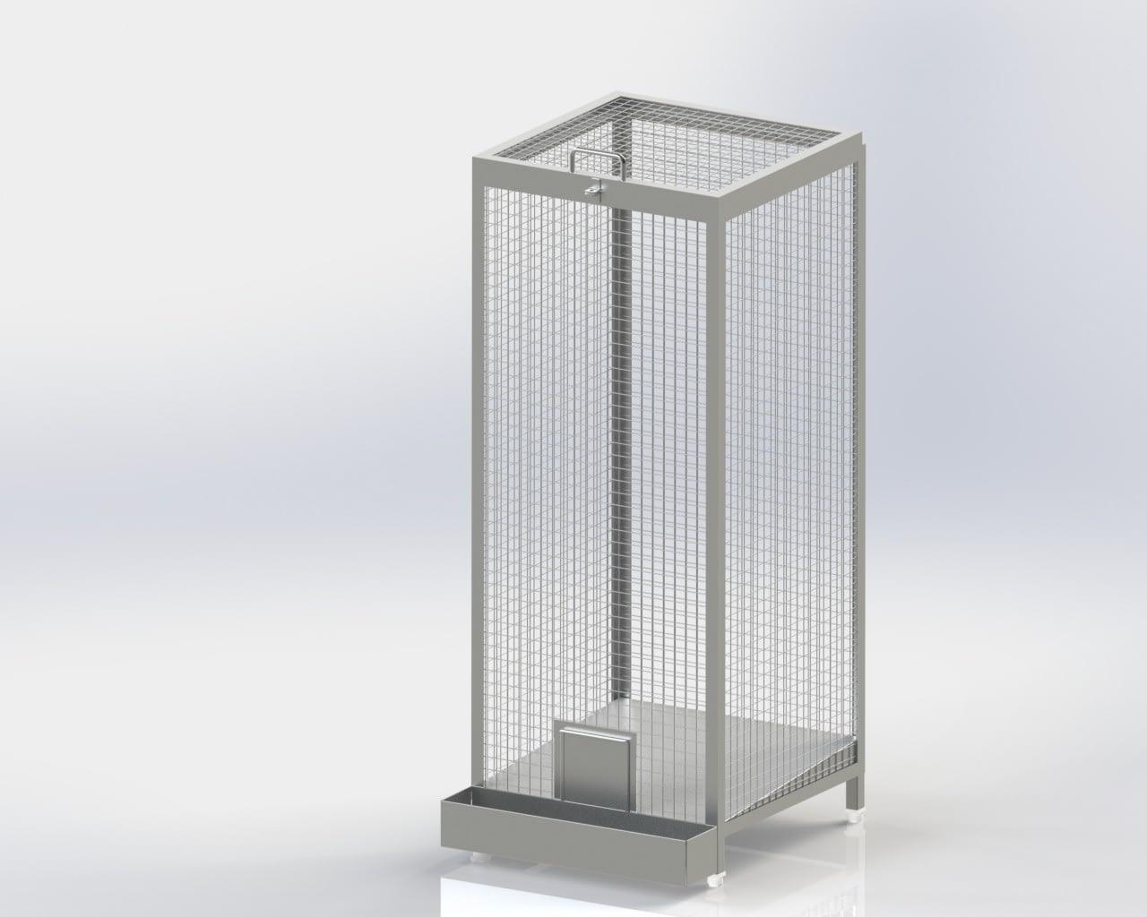 Single Chamber Wire Mesh Storage Bin Fi-Fo Type