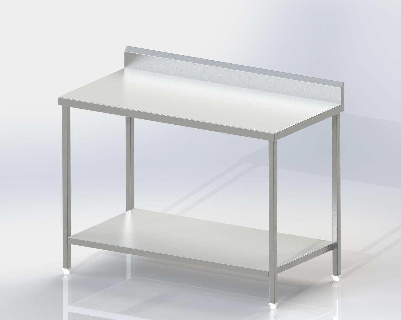 Work Table/Under Shelf with backsplash
