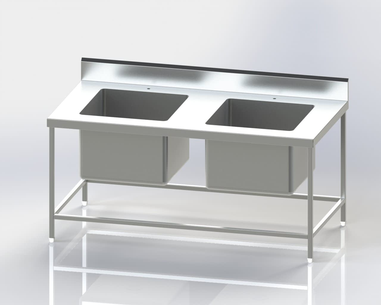 Two Sink Pot Wash Unit
